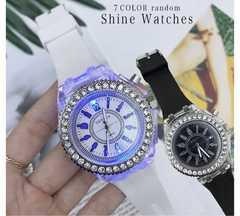 新品 腕時計 レディース腕時計 レデイーズ 光る ホワイト