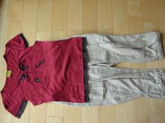 ホコモモラ可愛い花Tシャツ+クロップドパンツ