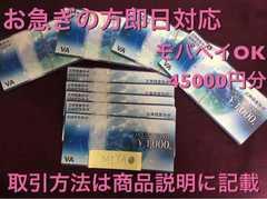 土日もOK 即日対応 VJAギフトカード 45000円分