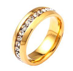 新品1円〜★送料無料★ 16号 豪華ダイヤモンド ゴールドリング 指輪