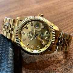 即決・送料無料ロレックス・デイトジャストタイプ レディース腕時計ゴールド×ゴールド