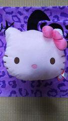 セール☆キティ可愛ぃふわもこハート柄クッション☆ピンク☆新品タグ付