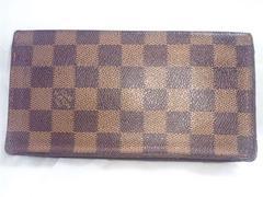 6218/ルイヴィトンLV人気のダミエ柄マチ付きの長財布確実本物です