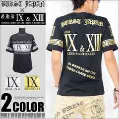 メール便送料無料【MAD BURST JAPAN】70739Tシャツ黒金L