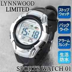 2個 WATCH 01 防水 バックライト アラーム/ストップウォッチ付