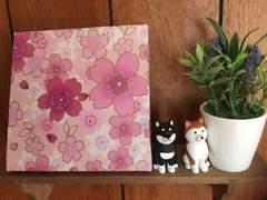 桜☆木製ファブリックパネル♪15