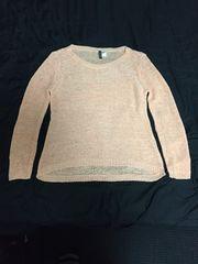 美品 H&Mニットセーター ピンク