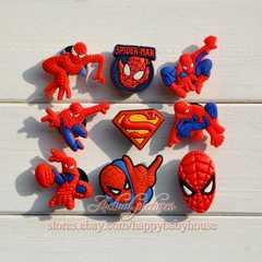 ◆スパイダーマン シビッツ風 クロックスアクセサリー 9点