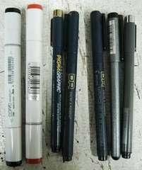 デザインアート系ペン7本クリックポスト164円配送可能