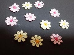 手芸用☆お花飾りまとめ売り《ピンク&黄色》