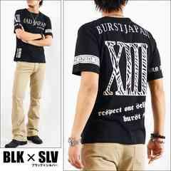 メール便送料無料【MAD BURST JAPAN】70722Tシャツ黒銀L