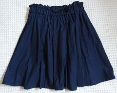 ◇INGNIネイビーギャザースカート◇M