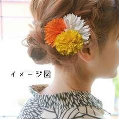 髪飾り ヘアーアクセサリー ヘアピン ハンドメイド 浴衣夏祭り☆