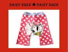 *Disney Daisy Duck*BABYデイジーハート総柄モンキーパンツ*80�a*