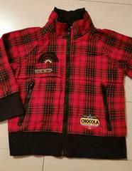 ★chocola★赤チェックジャケット/size95