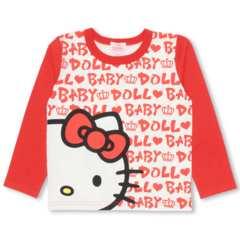 新品BABYDOLL☆90 ハローキティ ロンT ロゴ総柄 Tシャツ ベビードール