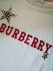 バーバリーhorseロゴ刺繍★パフスリーブ