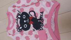 即決☆95�aピンクの猫が激カワ長袖トップス