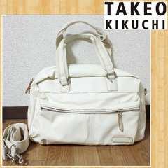 購入25000円 TAKEO KIKUCHI 2way ボストンバッグ ショルダー