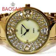 新品/未使用【箱付】BAOSAILI【クリスタル】美しい腕時計