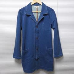 インディゴカットデニムショップコート/BLUE/L