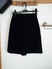 ネイビー台形スカート 綺麗