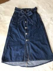 OLIVE  des  OLIVE   デニムロングスカート  フリーサイズ