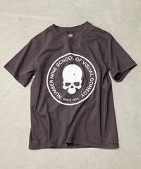 †復刻ナンバーナイン☆ドクロ†穴空きひび割れTシャツ