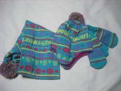 40 女子 RIP CURL リップカール ニット帽 マフラー 手袋 セット