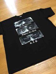 LA直輸入 2pac&BYGGYデザインプリント Tシャツ黒サイズ4XL