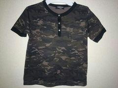 コムサCOMME CA ISM110A迷彩Tシャツ美品