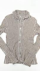 tsumori chisato*クレプリギンガムチェックシャツ*size2