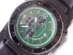 8622/291295=homme大型フェイスフルブラッククロノグラフメンズ腕時計