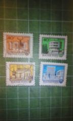 ハンガリー建造物切手4種類♪