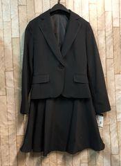 新品☆3号小さいプチサイズ黒スカートスーツお仕事にも☆b828