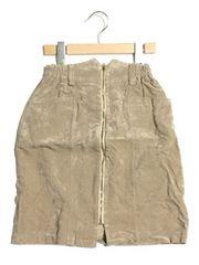 新品<キュプラ混>スエード調・高品質デザインスカート(M)訳アリ