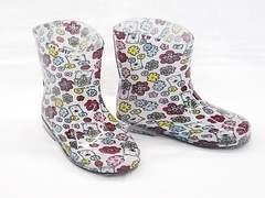モンフレール レインブーツ 7008 18.0cm 花クマ 可愛い 長靴