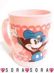 ディズニー【ミッキー&ミニー】お子様でも安心して使える♪プラマグカップ