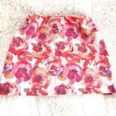 *c.a*【美品】LIP SERVICE☆flowerタイトスカート☆186