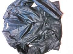 ザラZARA BASIC柔らかレザージャケット黒レディースL女性 衣服25000円位値下