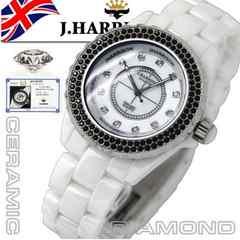 英国J.HarrisoシャネルJ12TYPEセラミック天然ダイヤ付属腕時計