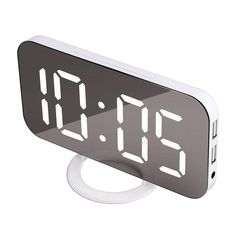 目覚まし時計 デジタル 置き時計 LED 白