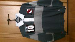 激安72%オフカンタベリー、ニューエラコラボ、長袖ポロシャツ(新品タグ、灰、M)