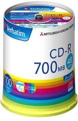 三菱ケミカルメディア Verbatim 1回記録用 CD-R