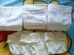 新生児 未使用 布おむつカバー4枚 布おむつ19枚セット