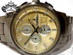 良品【1点もの】オロビアンコ TIMEORA【クロノ】メンズ腕時計