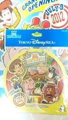 ディズニー TDS トイストーリーマニア トイマニ オープニング記念 ロゴ ステッカーシール ウッディ