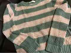 H&M 女の子120.130 6から8才前後編みカーデ カットソー