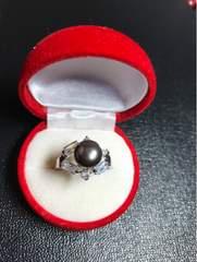 送料無料!新品 Pt プラチナ 本物 真珠 リング 指輪 22~23号程度