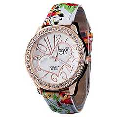 今回限り600円★カラフル&ガールズ時計 緑 初期不良保証